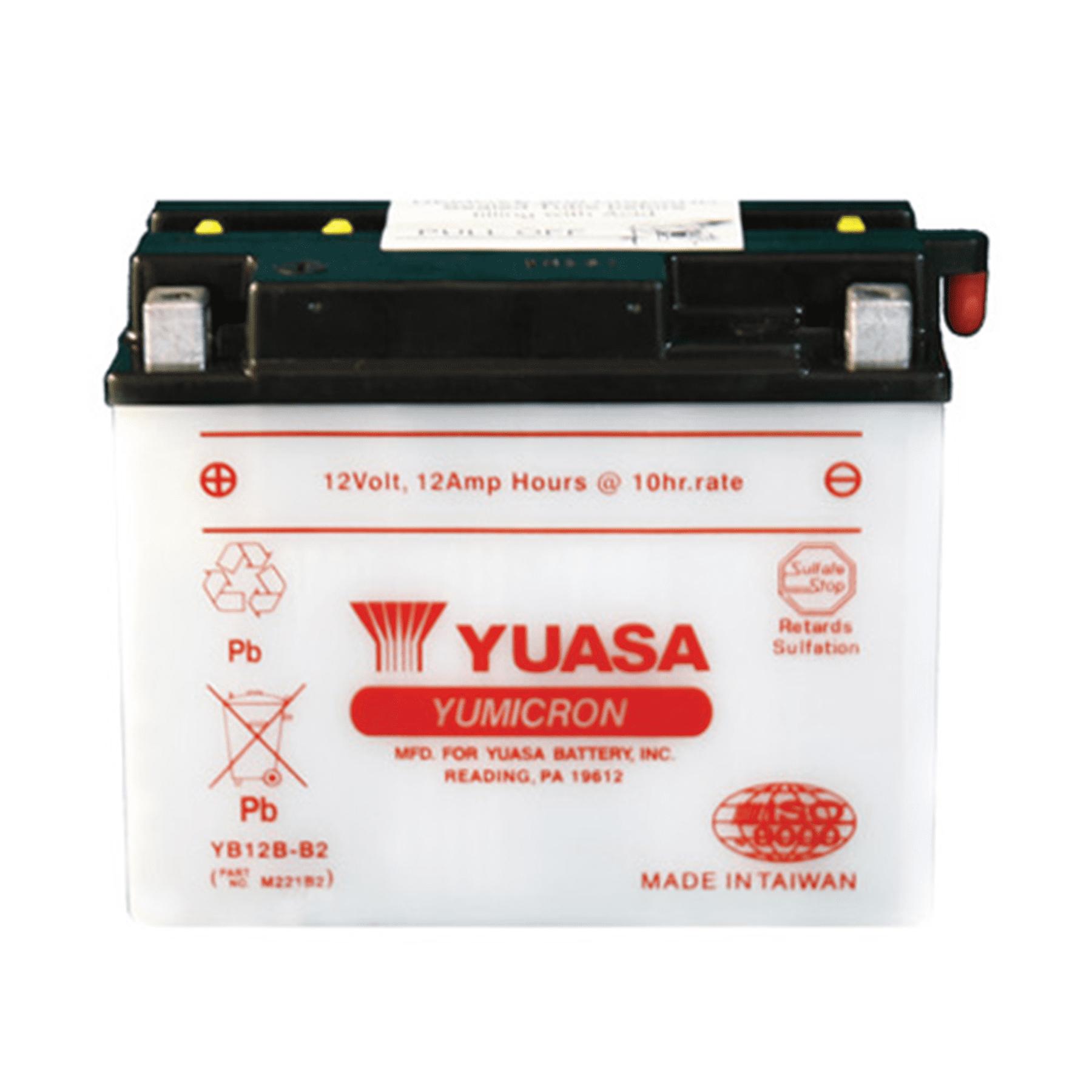 YUASA YB12B-B2 YUMICRON-12 VOLT BATTERY