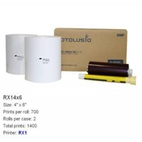 DNP Rx1 4x6 Media, 700 Prints Per Roll, 2 Rolls for Rx1 DNP Printers