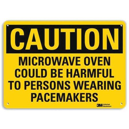 LYLE U4-1532-RA_14X10 Safety Sign, Microwave Oven, Caution, 10inH LYLE U4-1532-RA_14X10 Safety Sign, Microwave Oven, Caution, 10inH