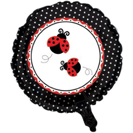 Creative Converting Ladybug Fancy Two Sided Mylar Foil Round Balloon by Creative Converting-Toys](Fancy Balloons)