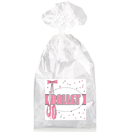 Pink Ballet Slippers  Party Favor Bags with Ties - 12pack - Ballet Party