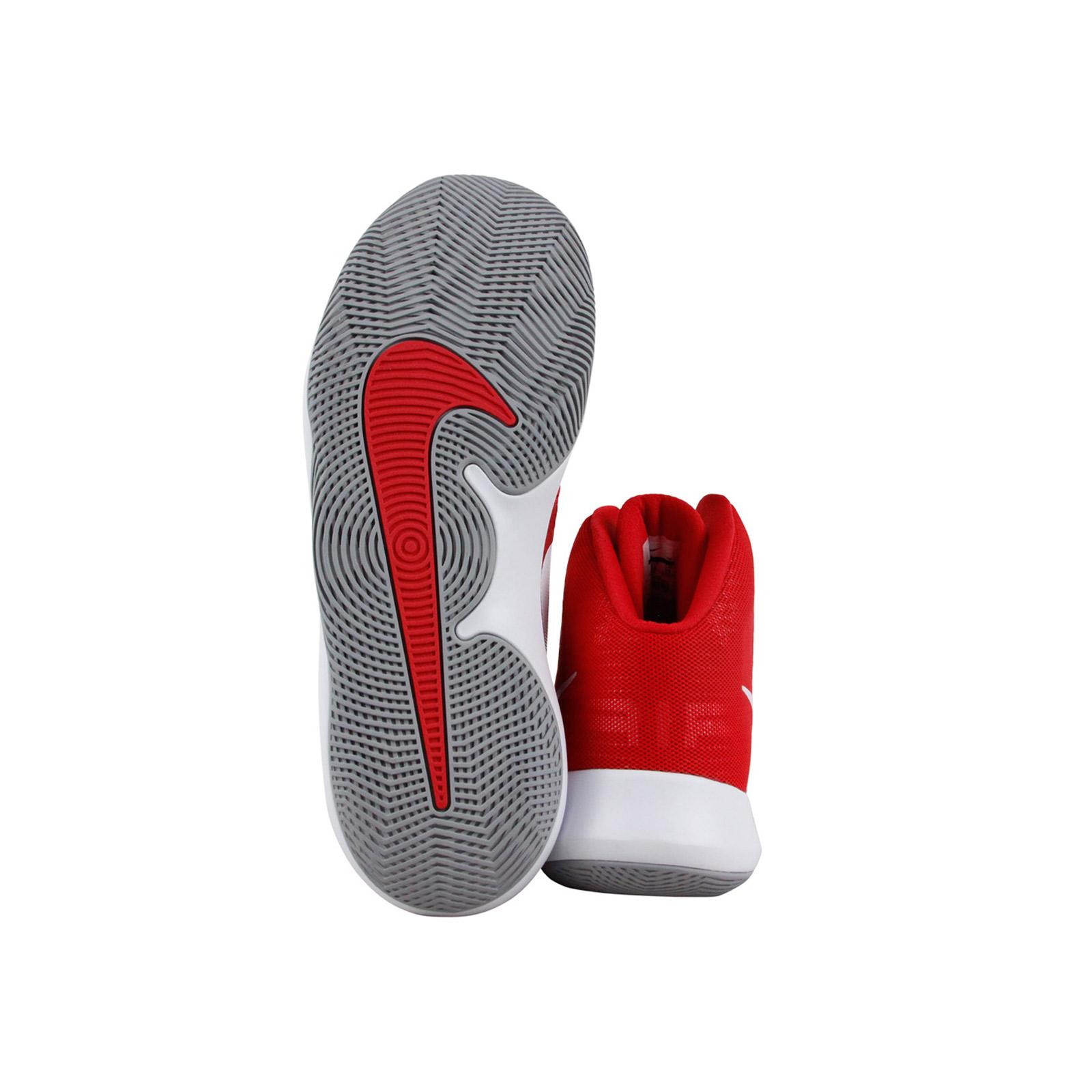 Nike Men's Air Precision University Red / White-Wolf Grey High-Top Basketball Shoe - 11.5M
