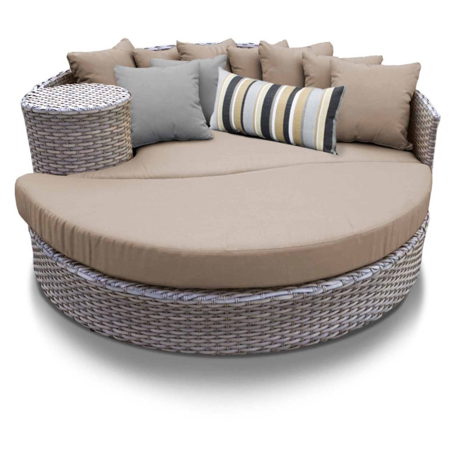 TK Classics Oasis Outdoor Wicker Sun Bed