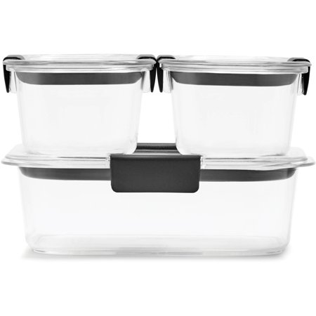 Rubbermaid Brilliance Food Storage Container, BPA-Free Plastic, 6-Piece Set, Clear - Deal ...