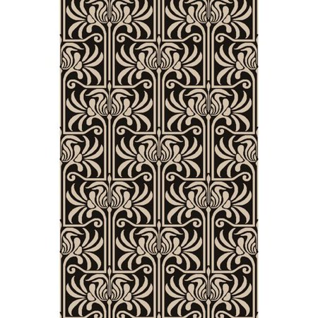 surya natura black ivory damask area rug