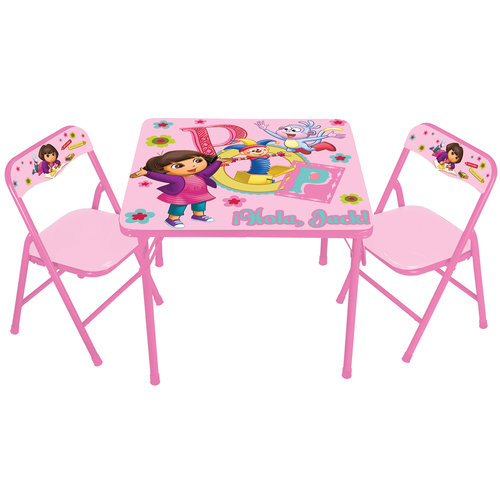 Nickelodeon - Dora the Explorer Playroom Surprise Activity Table and Chairs Set