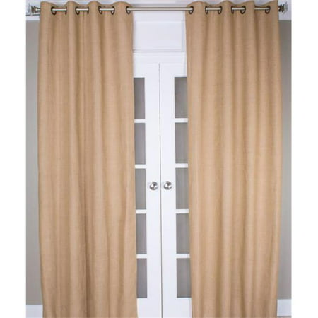 Indias Heritage P171 108 butter Burlap Curtain Panel - Butter - 108 in. (India Curtain Panels)