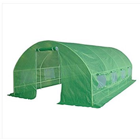 Greenhouse 2 Roof Vents (Quictent Updated Design 2 Doors 20'x10'x6' Portable Greenhouse Large Walk-in Green Garden Hot House 8 vents + 2 doors make for terrific flow-through)
