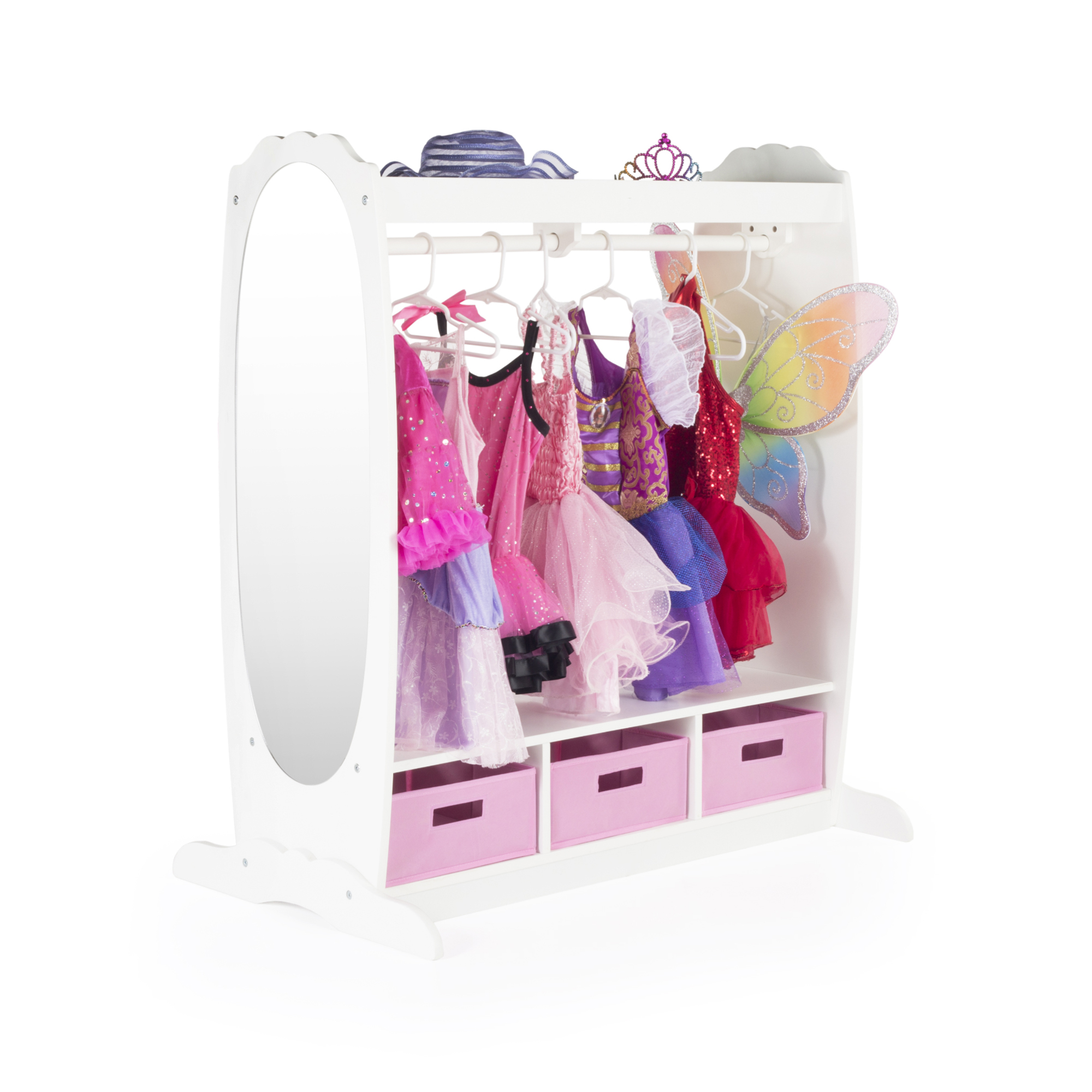 Dress Up Storage Center   White