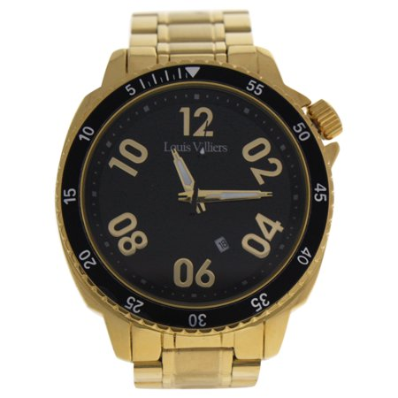LV1055 Gold Stainless Steel Bracelet Watch by Louis Villiers for Men - 1 Pc Watch - image 1 of 1