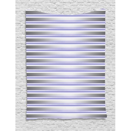 Modern Decor Tapestry, Stripe Tube like Bars Animation Inspired Digital Minimalist Graphic Art, Wall Hanging for Bedroom Living Room Dorm Decor, 60W X 80L Inches, Silver Lavender, by Ambesonne