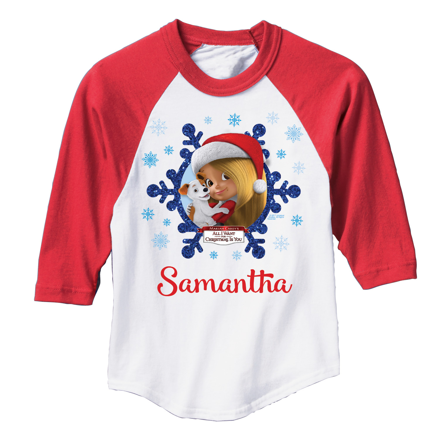All I Want For Christmas Mariah Carey.Personalized Mariah Carey All I Want For Christmas Youth Girl Red Sports Jersey