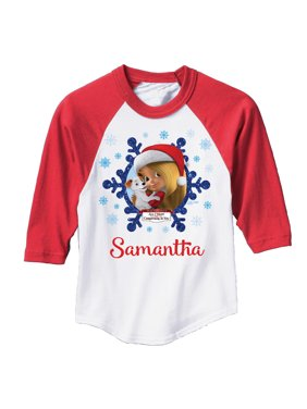 Personalized Mariah Carey All I Want for Christmas Youth Girl Red Sports Jersey