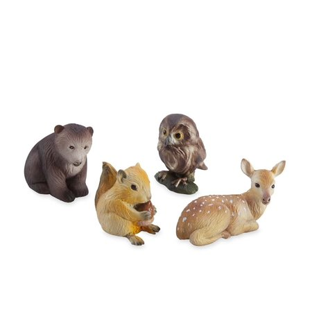 Set Magic Cabin (Woodland Baby Animal Collection (set of 4), Adorable woodland baby critters By Magic)