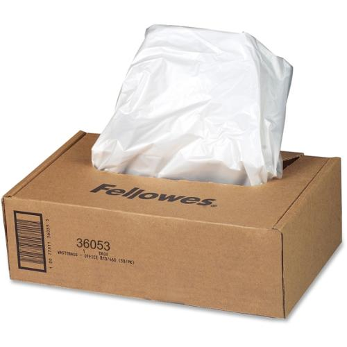 Fellowes Waste Bags for 99Ms/90S/99Ci/130C/HS-440/130C/200C Shredders - 100 Pk
