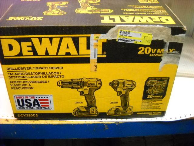 NEW DEWALT DCK280C2 20v Drill//Driver Impact Driver Combo Kit