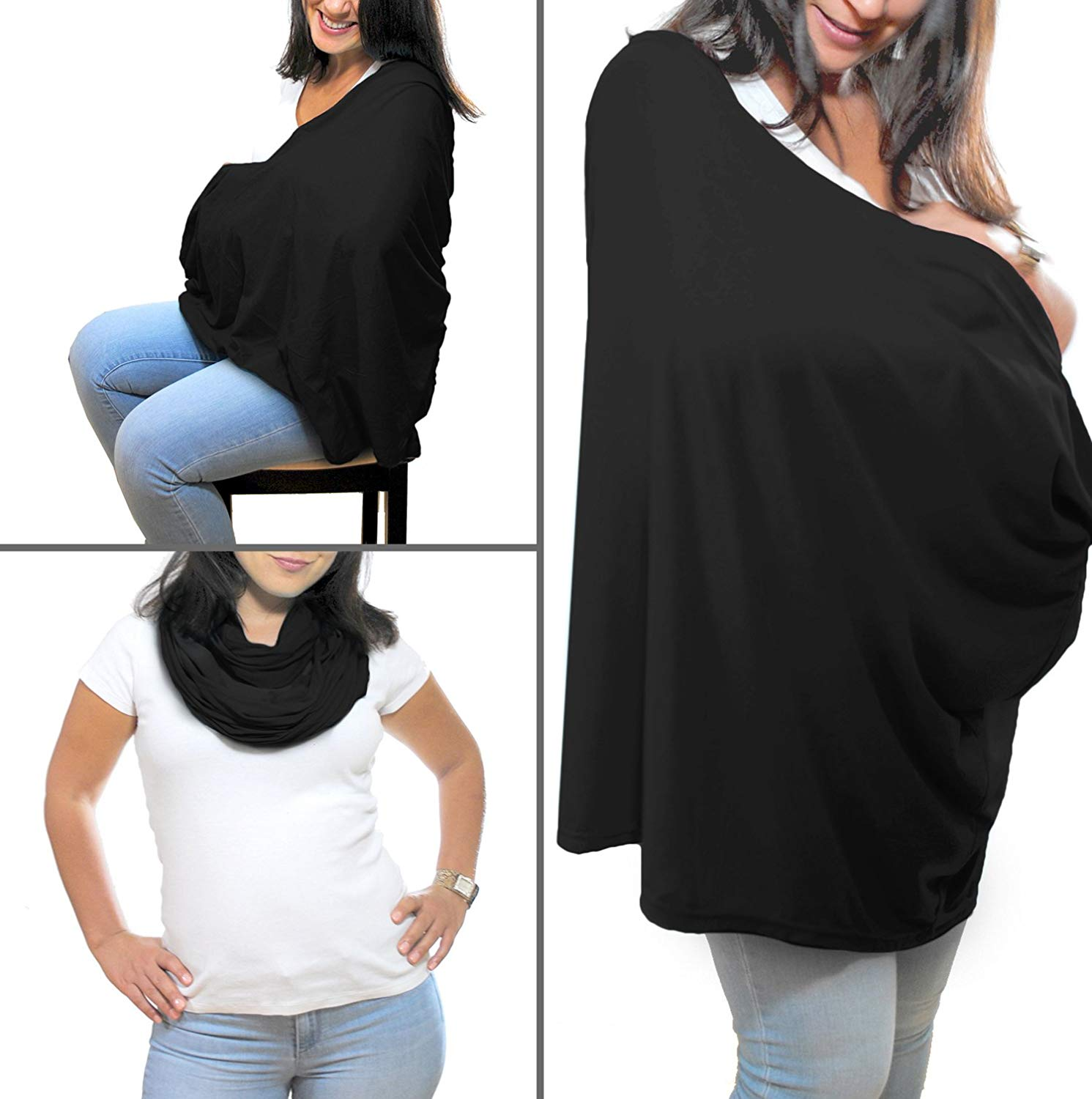Magicfly Multifunction Infinity Nursing Cover,Nursing Scarf for Breastfeeding and Baby Caring,Stroller Cover&Baby Car Seat Canopy(5 Colors)