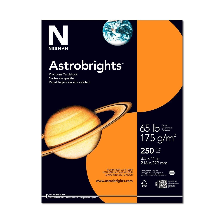 Astrobrights 8.5 x 11 Lunar Blue Cardstock 65lb Cover 250/Ream