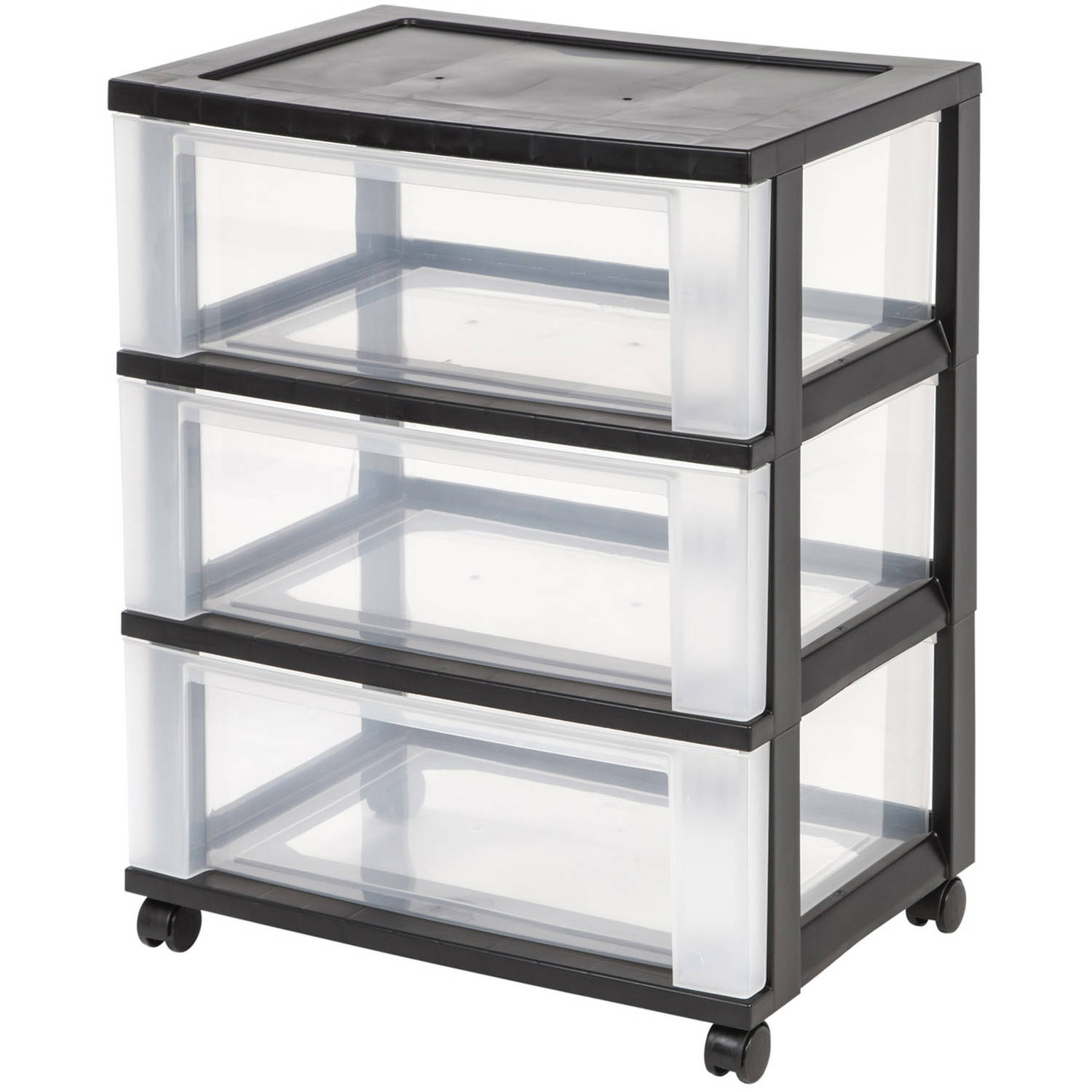 IRIS 3-Drawer Rolling Storage Cart