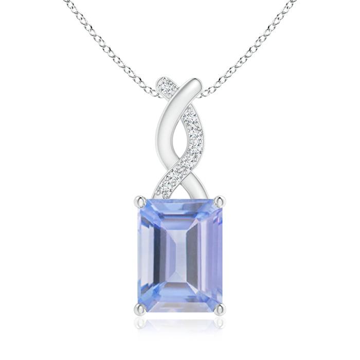 Angara Sapphire Pendant with Diamond Entwined Bale sVDOBlI7Ix