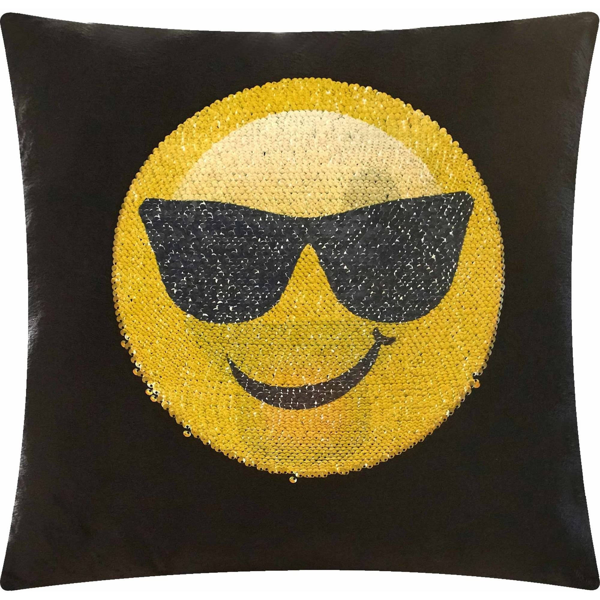 EmojiPals Cool Shade Reversible Sequin Decorative Pillow