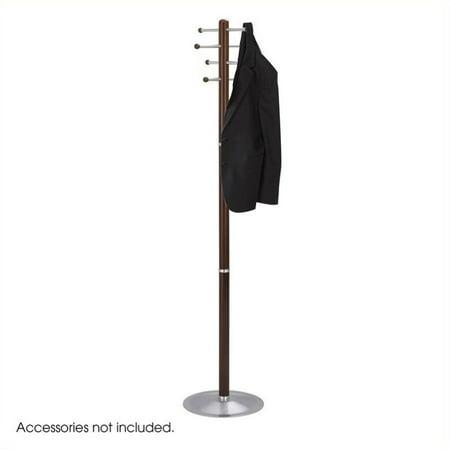Pemberly Row Cherry Wood Standing Coat Rack