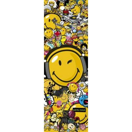 Smiley Tribal Door Poster 21x62 inch