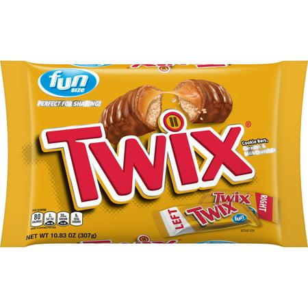 TWIX Chocolate Candy, Halloween FUN SIZE, 10.83 oz bag