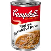 (4 pack) Campbell'sCondensed Beef with Vegetables & Barley Soup, 10.5 oz. Can
