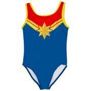 Captain Marvel Costume Juvy One Piece Swimsuit-Size 5-6