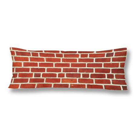 MKHERT Red Brick Wall Body Pillow Pillowcase Pillow Protector Cushion Cover 20x60 (Bricks Protector Case)