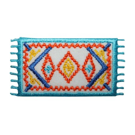 ID 8789 Mexican Rug Patch Western Poncho Tierra Embroidered Iron On Applique](Western Poncho)