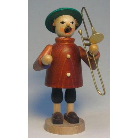 Trombone Player German Christmas Incense Smoker Made in Erzgebirge Germany (German Incense Smoker)