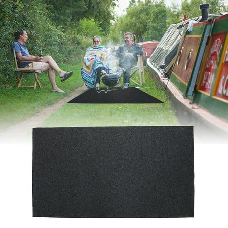 Fireproof Heat Resistant  BBQ Gas Grill Splatter Mat Mat Backyard Floor Protective Rug, Gas grill floor mat,BBQ floor protective rug
