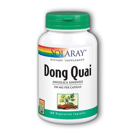 Solaray Dong Quai 550 mg Capsules, 180 Ct