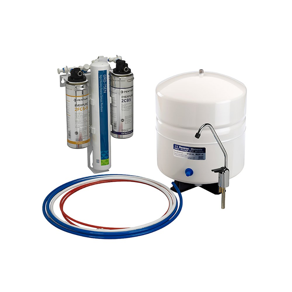 Pentair Everpure LVRO 75HE Reverse Osmosis Water Purifier Filter System/Faucet