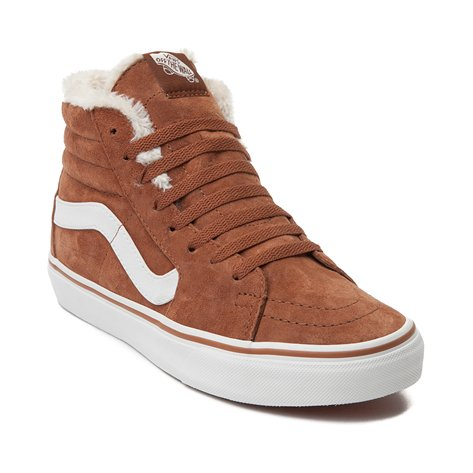 b1e3bbd468 Vans - Vans Men s Sk8-Hi Pig Suede And Fleece Monks Robe   Blanc Mid ...