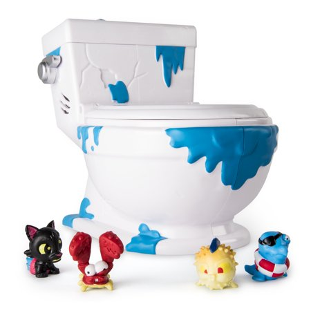 Flush Force   Series 1   Collect A Bowl Stash  N  Store Case For 4 Exclusive Flushie Figures