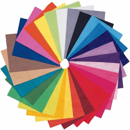 "Newport Acrylic 9"" x 12"" Multi-color Washable Decorator Felt Assortment, 25 Piece"