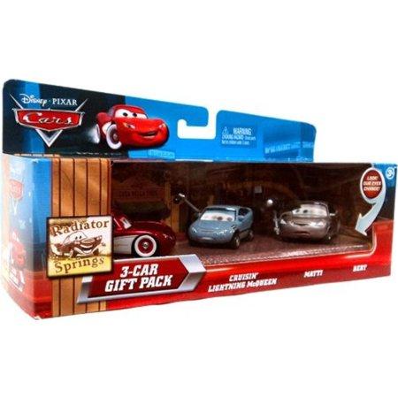 Disney / Pixar CARS Movie 155 Die Cast Cars with Lenticular Eyes 3Car Gift Pack Cruisin Lightning McQueen, Matti BertIncludes Cruisin' McQueen, Matti & Bert By Disney Pixar