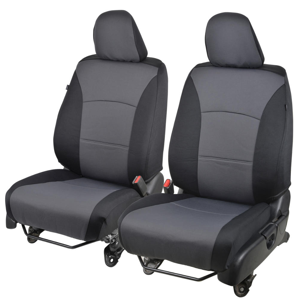 PolyCustom Fit Car Seat Covers for Honda Accord 2013-2015 - EasyWrap Cloth (Black)