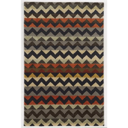 Rizzy Home  Gillespie Avenue New Zealand Wool Hand-tufted Accent Rug (8' x 10') - Multi - 8' x (8' New Zealand Wool)