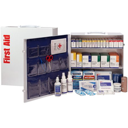 First Aid Only, FAO90575, 3-Shelf First Aid Cabinet with Medications - ANSI Compliant, 1 Each,