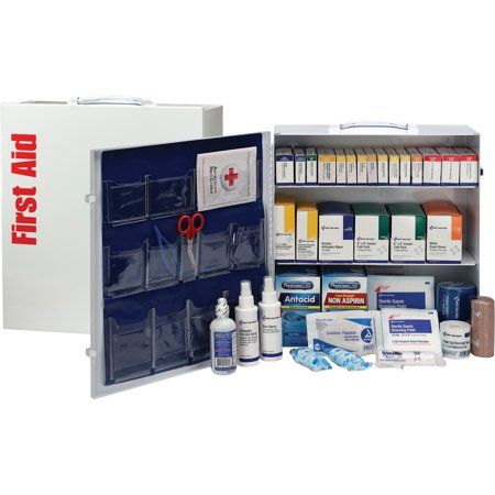 - First Aid Only, FAO90575, ANSI First Aid Station with Med, 1 Each, White,Blue