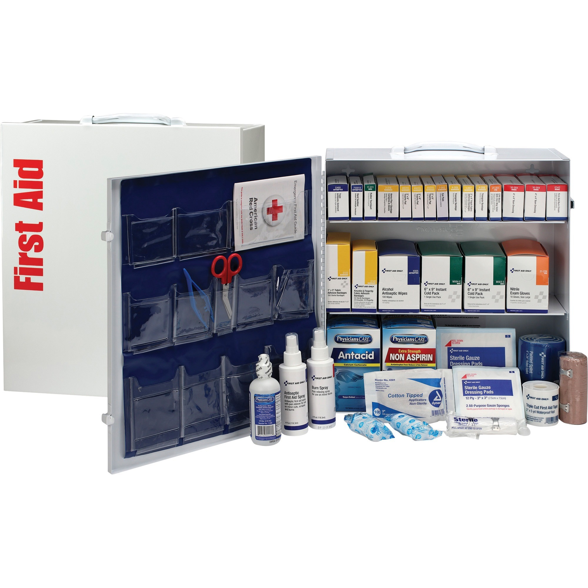 First Aid Only, FAO90575, ANSI First Aid Station with Med, 1 Each, White,Blue