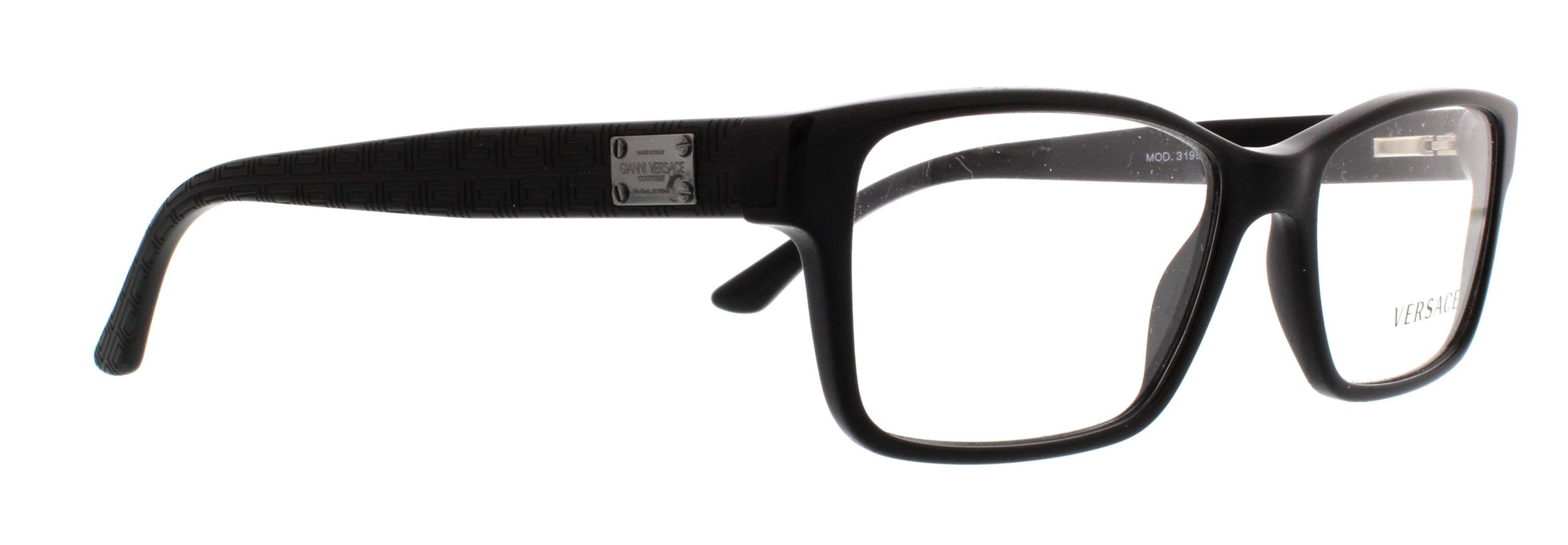 VERSACE Eyeglasses VE3198 GB1 Black 55MM - Walmart.com