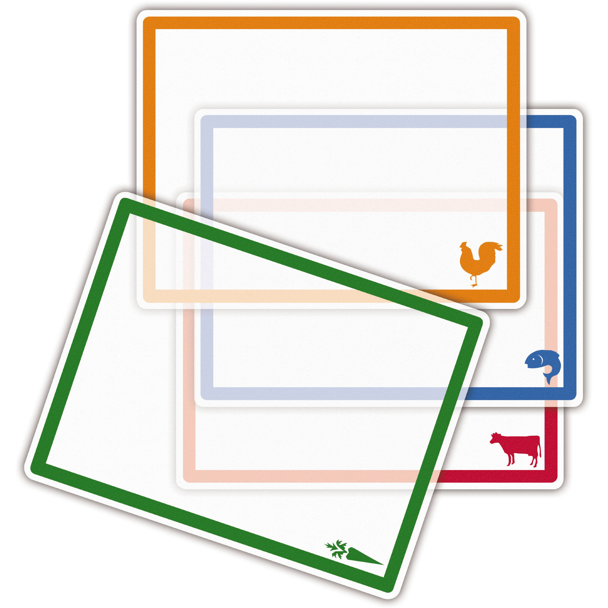 "Farberware 4-Piece 11"" By 14"" Flexible Cutting Mat Set with Icons"
