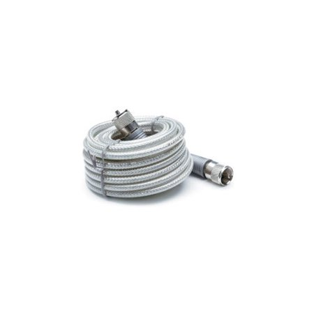 TRUCKSPEC R TSPS-8X18SM8 18     CB ANTENNA MINI-8 COAX CABLE W PL-259 CONNECTORS  SILVER ()