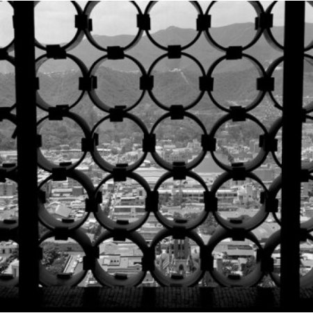 Venezuela Caracas view of city through metal grate Canvas Art -  (24 x 36) ()