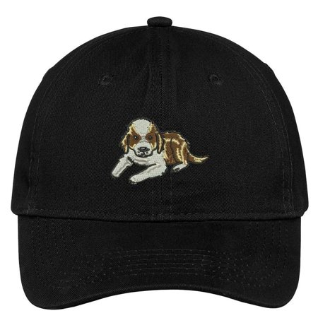 Saint Bernard Puppy Halloween (Trendy Apparel Shop Saint Bernard Puppy Embroidered Cap Premium Cotton Dad)